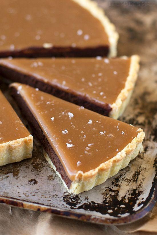 Salted Caramel Bittersweet Chocolate Tart #saltedcaramel #tart #dessert