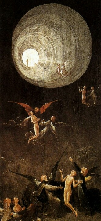 """Purgatory..""""Eco says medieval scholars knew the world was round. Dante Alighieri had to have known that the world was round. He entered Hell at one end and saw stars from the bottom of Mount Purgatory."""" Threading the Needle by Gabriel Valjan."""