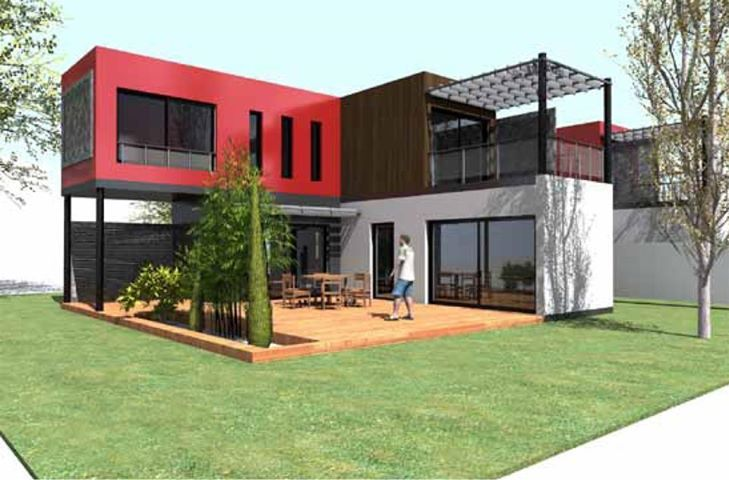 Container Home www.gutflex.com #modular homes #gutflex housing # modern housing ideas