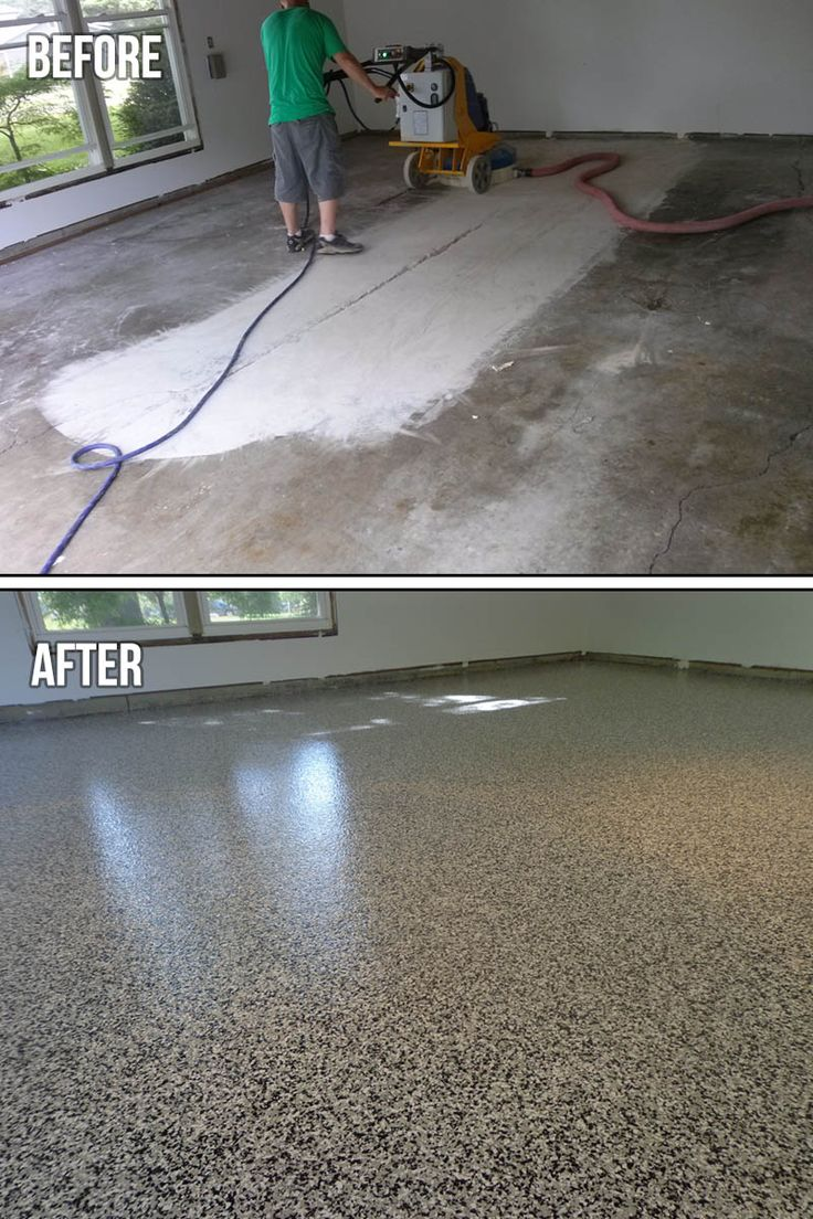 Grey White Black Epoxy Chip Garage Floor You Can Use