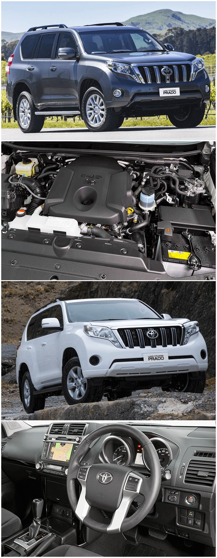 Toyota prado offers both petrol and diesel engines