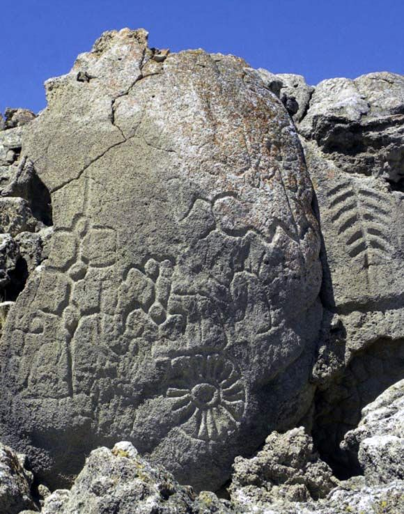 Archaeologists have discovered a series of abstract petroglyphs in western Nevada are at least 10,500 years old and could possibly date to 14,800 years ago, making them the oldest known petroglyphs in North America.