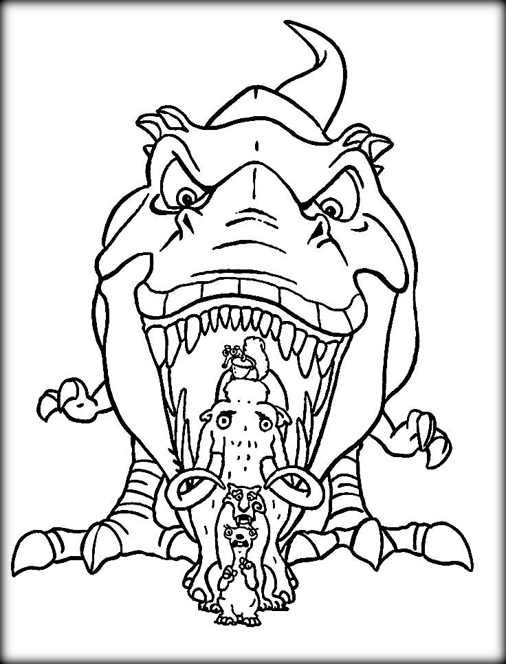 Ice Age Coloring Pages Dinosaur Rhpinterest: Christmas Dinosaur Coloring Pages At Baymontmadison.com