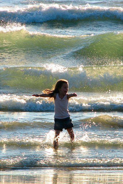 Enjoying the waves. Pure joy! :)