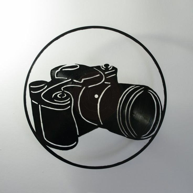 DSLR Camera Vinyl Wall Decoration