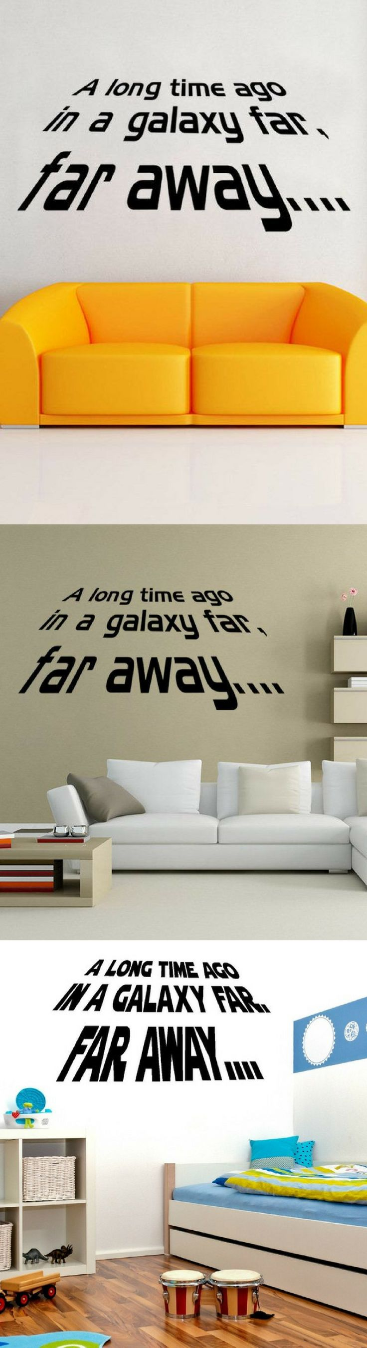 Star Wars Long Time Ago Wall Decals - Star Wars Gifts #starwars #decal #homedecor #wallstickers
