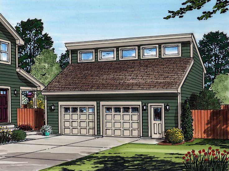047g 0027 2 Car Garage Plan With Loft 33 X26 Garage Plans With Loft Loft Plan Shed House Plans