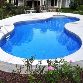 brushed concrete pool decks - google search | backyard ideas