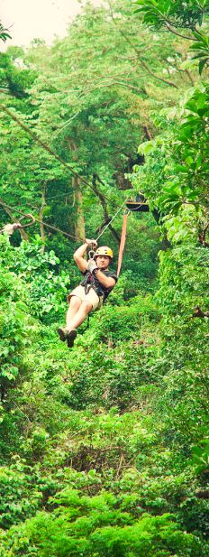 Conquer the zip lines in Costa Rica.