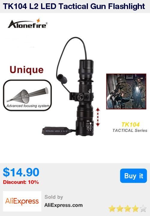 TK104 L2 LED Tactical Gun Flashlight 2200LM 5mode Pistol Handgun Torch Light Lamp Taschenlampe+gun scope mount+remote switch * Pub Date: 17:21 Apr 13 2017