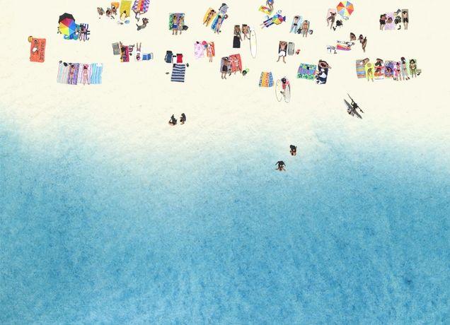 """The Beach"" - Threadless.com - Best t-shirts in the world"