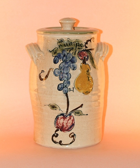 Floral Designs on Porcelain: Rum Pot  Small: 9 inch (2 litres)  Medium: 11 inch  (4 litres)  Large: 12.5 inch (6 litres)
