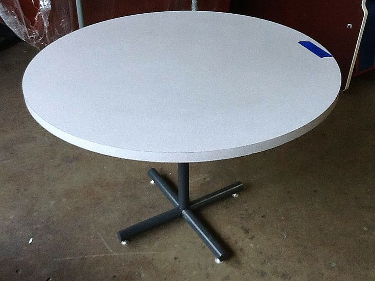Used Gray Round Table. These Used Round Tables Are In Gray Laminate. Get A  Quote Today For Your Next Office Furniture!