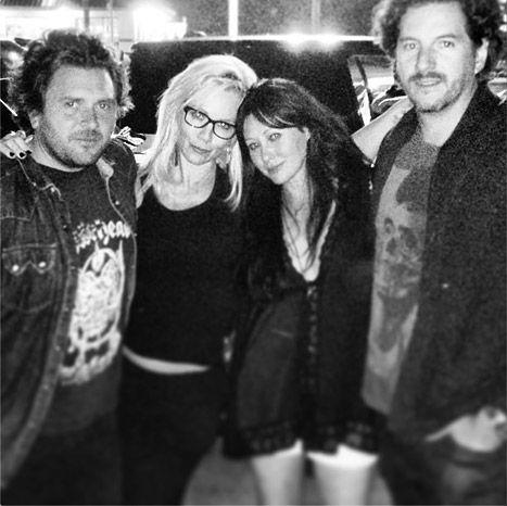 Jennie Garth and her new beau Michael Shimbo hangout with Shannen Doherty and her husband Kurt Iswarienko.