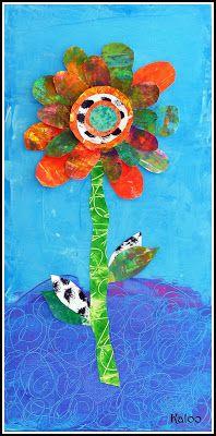 Fleurs selon Eric Carle en MS Plus