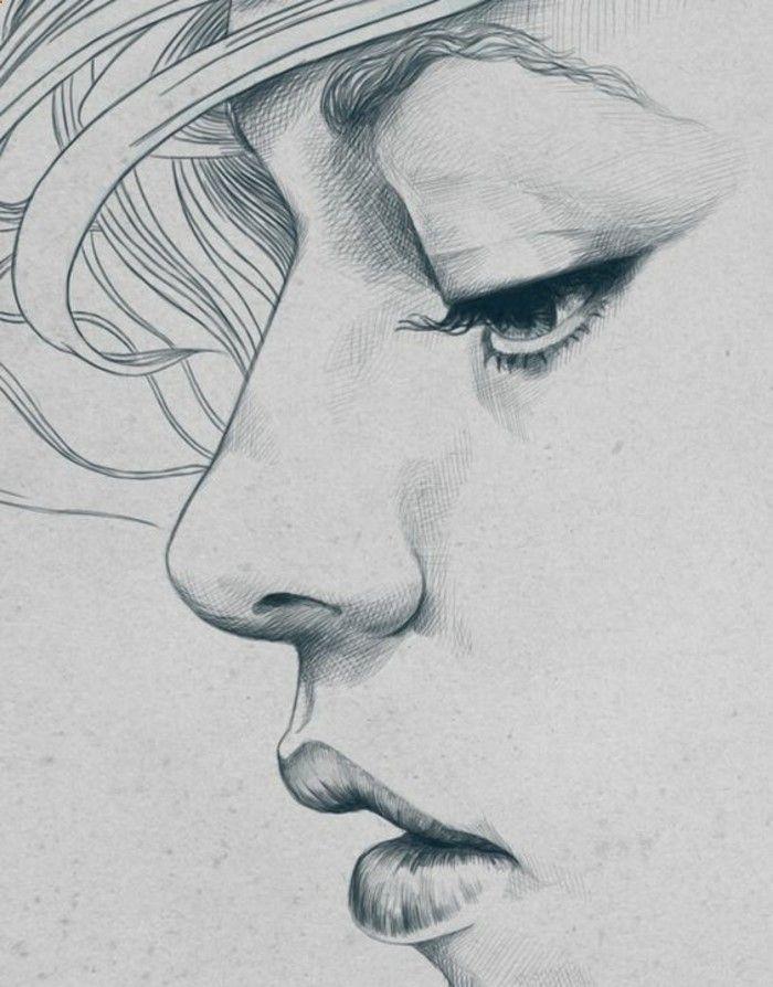 Pencil Portrait Mastery - Quell dessin ado fille image dessin de fille manga idée diy dessin visage graphique détaillée - Discover The Secrets Of Drawing Realistic Pencil Portraits