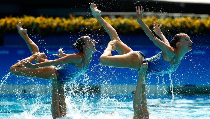 L'ensemble russe de natation synchronisée remporte vendredi dans la…