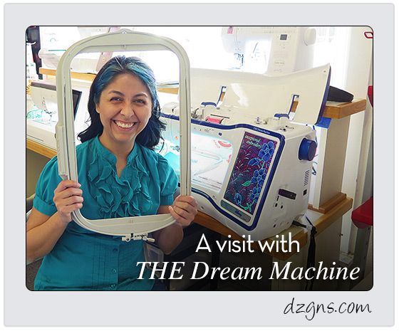 """I was telling my friend about my work day. """"I watched online videos of THE Dream Machine Innov-is XV8500D from Brother. My conclusion: The machine is a dream!"""" We both agreed it would be a good ide..."""