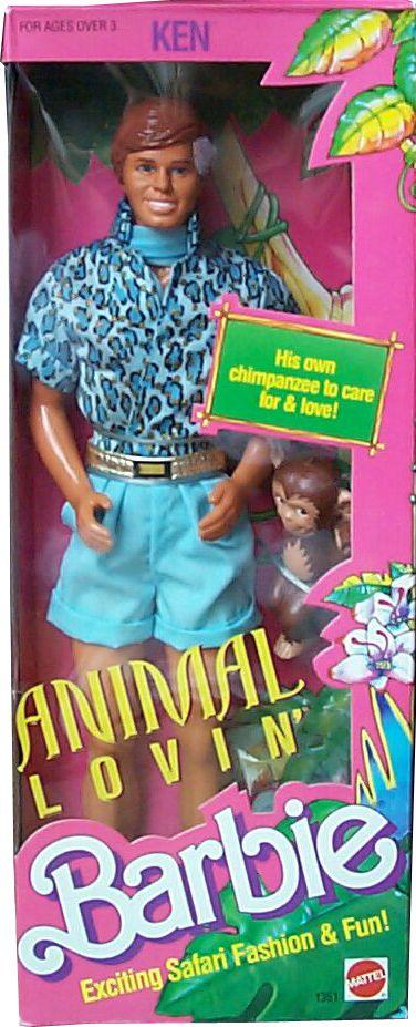 1988 Ken Animal Lovin 1351 0200 19611990 A Doll