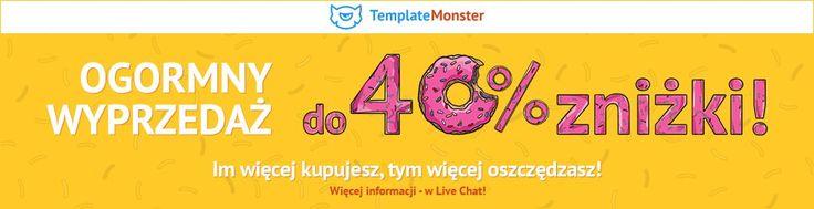 Zniżka 40% na wszystkie motywy i szablony Template Monster // #web #webdesign #tools #apps