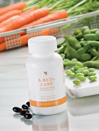 A-Beta-CarE levert het lichaam vitaminen A en E en selenium: een krachtig antioxidant mineraal. Vitamine E draagt bij aan de bescherming van lichaamscellen tegen oxidatieve effecten (antioxidanten) en vitamine A aan het behoud van normale huid en gezichtsvermogen. Vitamine A en selenium dragen bij aan het normaal functioneren van het immuunsysteem. Bevat het allergeen soja.