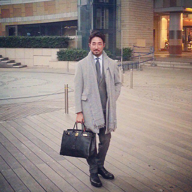 干場義雅のエコノミックラグジュアリースタイル  #Hoshibastyle  #Simple  #Basic #Luxury #Coat #Cantarelli #Suit #Belvest #Shirts #Decollo #Tie #WAKO #Belt #HERMES #Shoes #Crockett&Jones #Watch #SEIKO #ASTRON #Bag HERMES #Stole #Colombo #2015年1月15日 #テレビ朝日で収録 #好きな人はタモリさん高田純次さん長嶋茂雄さん