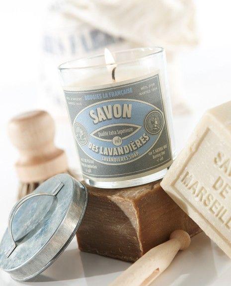Bougies la Française - Bougie parfumée vintage savon des lavandières