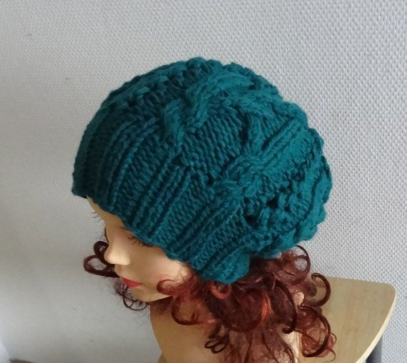 women knit  slouchy  beanie hat  Slouch Beanie  Large by Ifonka