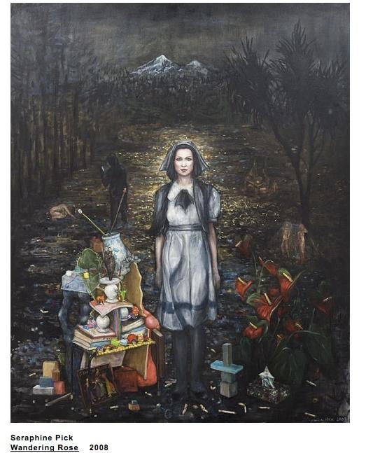 Wandering Rose, 2008, by Kiwi artist, Seraphine Pick.