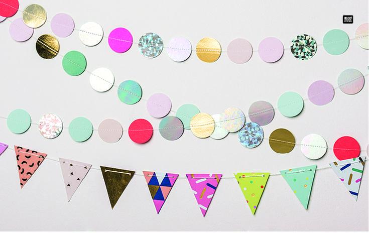 Rico Design - Party Dekoration jetzt bei uns im Goldmarie Shop / Marktstr.145 / 20357 Hamburg