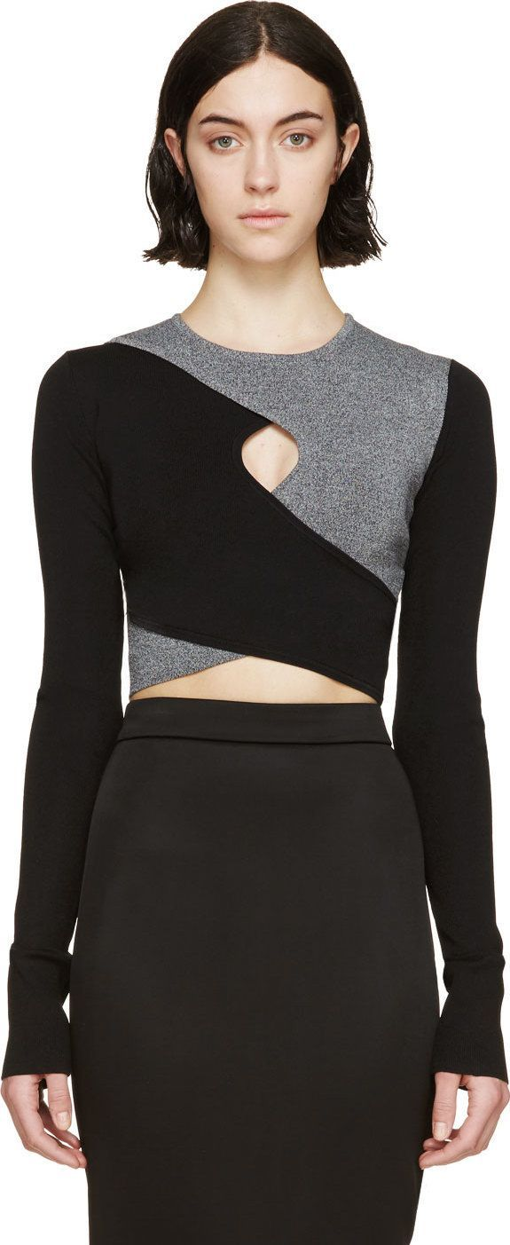 two-toned top - Dion Lee