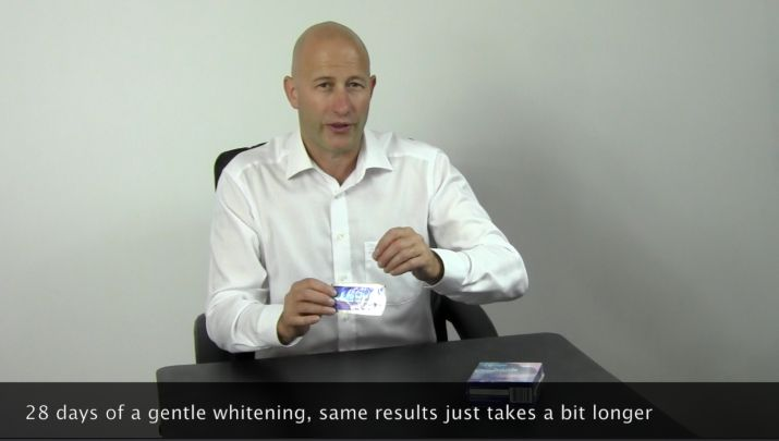 in this short video Stephen considers those who want to whiten but have slightly sensitive teeth - http://www.crestwhitestrips.co.uk/crest-blog/crest-whitening-strips-product-suite/