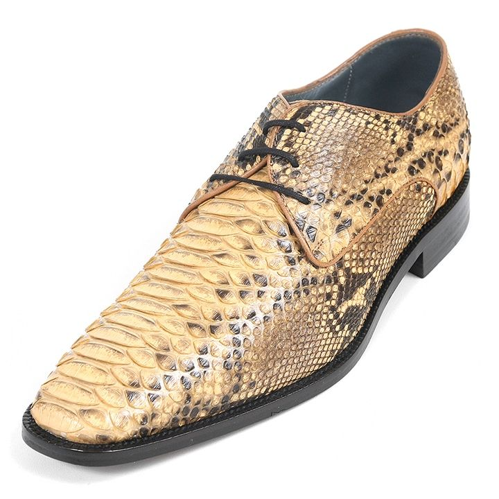 Enhance your ensemble and complete your look with this pair of classy dress  shoes in beige