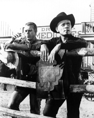 "The Magnificent Seven (1960) Yule Brenner, Steve McQueen ....""Do you ever get tired of hearing yourself talk? """