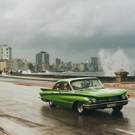 Photo by Max Motel. @maxmotel #cuba #havana #lahabana #malecon #greencar #oldtimer #cubanlifestyle #street #cityscape #skyline #coast #water #ocean #coastline #waves  #weather #scenery #moment #cinemascope  #illgrammers #agameoftones #visualsoflife #travel #travelgram #car #photography #picoftheday #photooftheday #severinwendeler #maxmotel