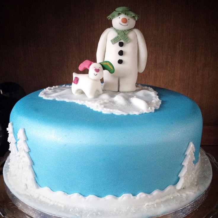 The Snowman and The Snowdog christmas cake