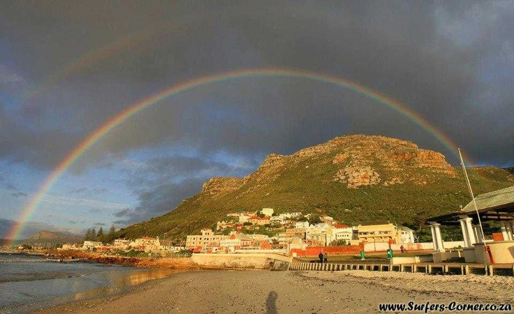 Thanks www.surferscorner.co.za for awesome shot of double rainbow Muizenberg beach