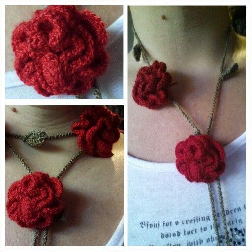 Collar tejido Crochet