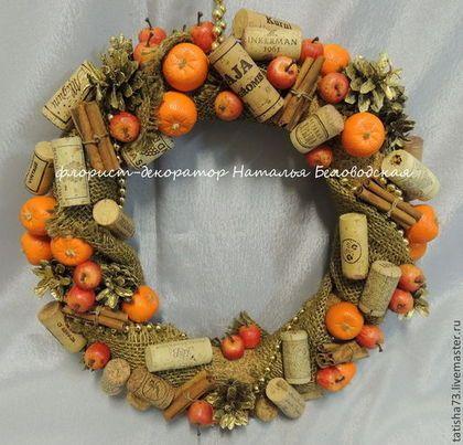 Рождественский венок - оранжевый,рождество,Новый Год,венок,рождественский венок