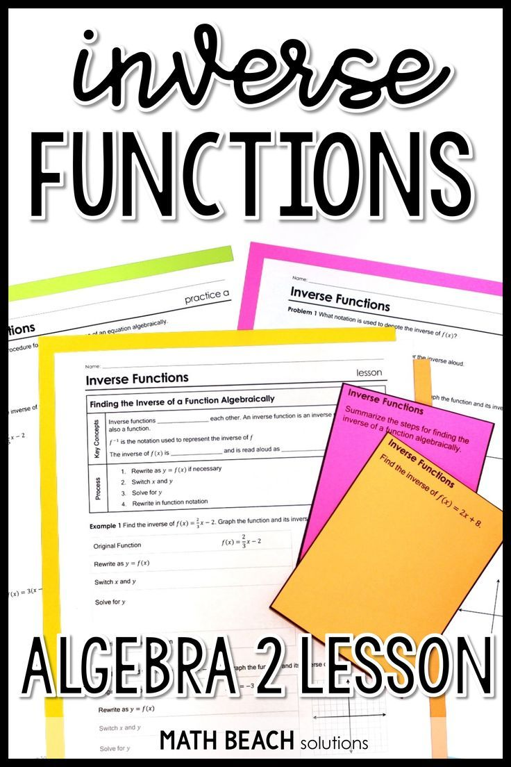 Inverse Functions Lesson Inverse Functions Lesson Linear Function