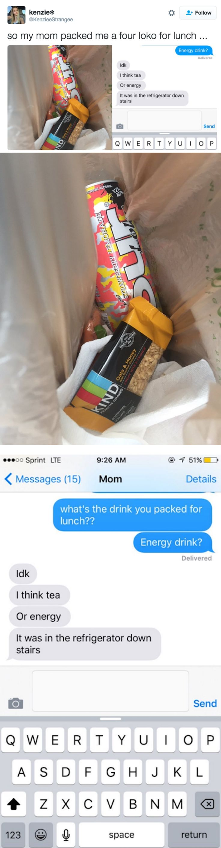 Mom Mistakenly Packs Four Loko Into 17-Year-Old's Lunch