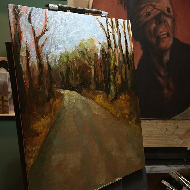 #art #drawing #sketch #sketching #instaart #rosemarybrushes #instasketch #oil #thick #texture #brushstrokes #oilpainting #impasto #oilsketch #quick #allaprima #landscape #doodle #bowie #blackstar #background
