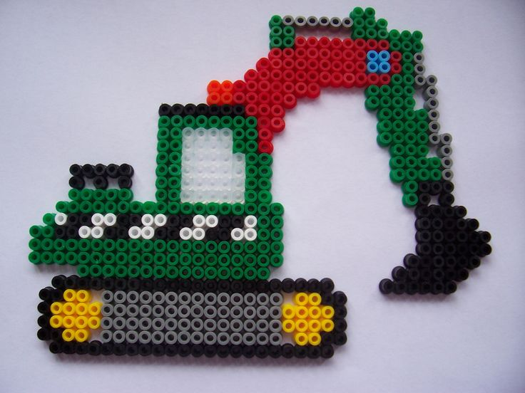 https://flic.kr/p/kMFUC | Digger 2 | Midi Beads. Hama Construction Vehicle Gift Box No.3106