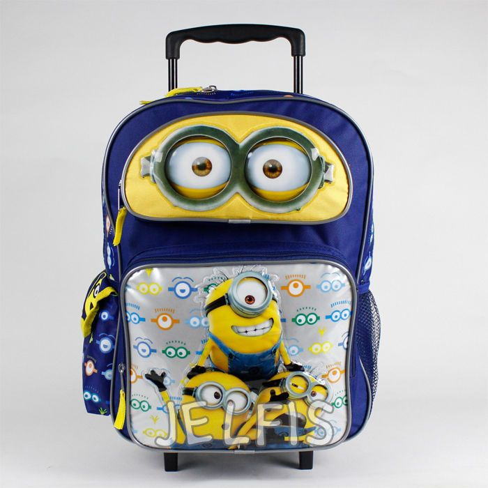 "Despicable Me Minions Eyes Boys 16"" Large Rolling Backpack for School #UniversalStudios #Backpack"