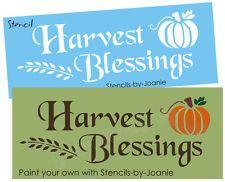 Fall primitivo STENCIL Harvest bênçãos país Willow abóbora sinal U tinta
