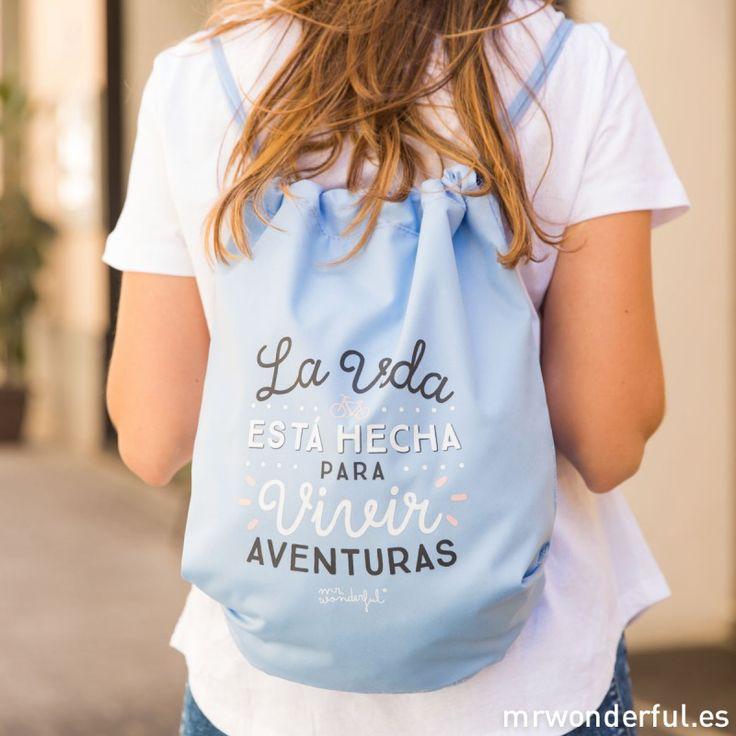 Saco - La vida está hecha para vivir aventuras