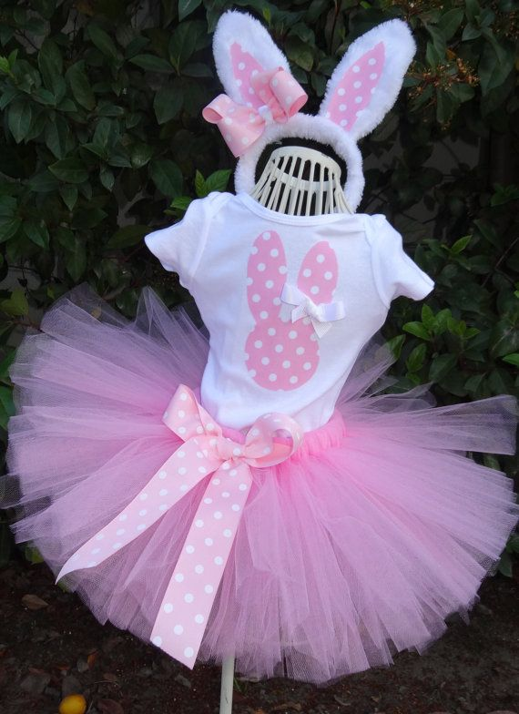 Easter Tutu Set Bunny Tutu Set Includes Tutu by KirrasBoutique, $38.95