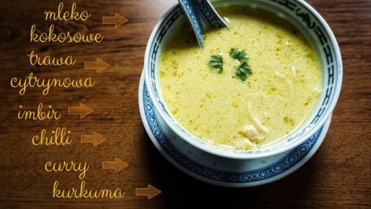 Jak ona gotuje? blog kulinarny: Tajska zupa kokosowa