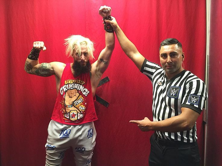 @real1 has his arm raised meaning he will face #Neville at #WWENoMercy! #205Live #ConnorsCure #AlwaysKeepCrushing