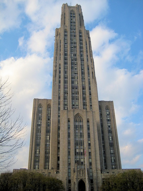 Cathedral of Learning at University of Pittsburgh is the tallest educational building in the Western Hemisphere at 42 stories.